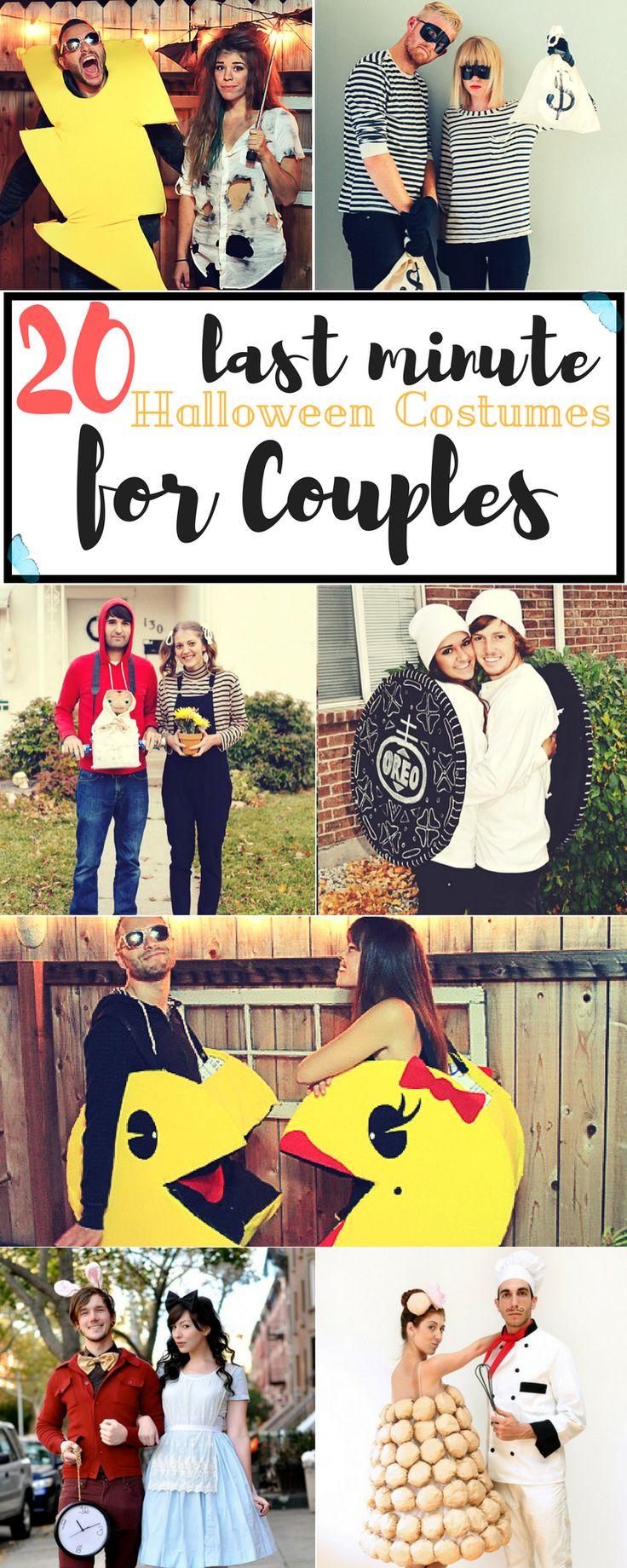 "Halloween is so close and we couldn't be happier! Our inner kids are screaming with excitement! (or are we the only ones?) But what do you do when you're in your 20's, poor and can't afford to buy those Halloween costumes for couples that you've seen here and there, but still want to dress up? You get to the ""DIY last minute Halloween Costumes for Couples"" faze, of course!"