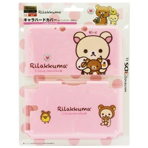NEW Nintendo 3DS LL XL Hard Case Cover Rilakkuma Korilakkuma SAN-X Pink Japan