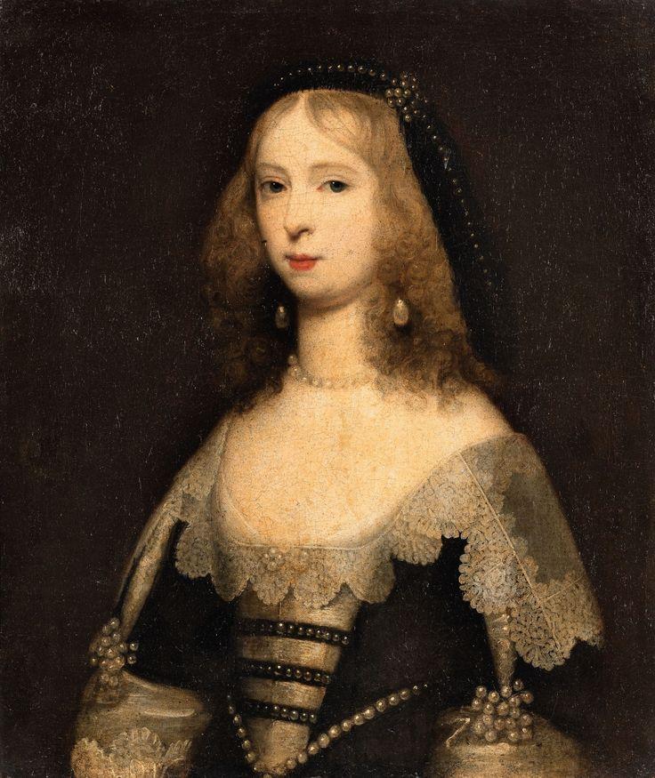 Cornelius Jonson (Janssens) van Ceulen, attributed to  1593 London - 1661 Utrecht  Portrait of a Lady in Pearl Jewellery