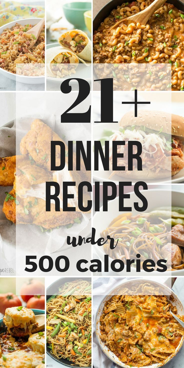 These 21+ Meals Under 500 Calories are all hearty, healthy meals, with many high in protein -- they will keep you going all day long!