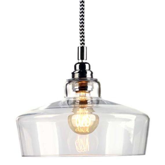 LAMPA wisząca LONGIS III 10144109 Kaspa szklana OPRAWA ZWIS IP20 przezroczysty