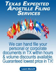 Mobile Austin Notary can rush file your documents to be apostilled in Texas, literally within hours for any person or company. www.mobileaustinnotary.com
