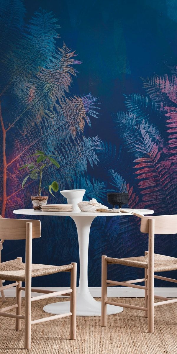 abstract fern wall mural abstract wallpapers pinterest wallabstract fern wall mural from happywall happywall wallpaper fern leaf retro abstraction minimalistic colorful wallmural mural abstractphotography
