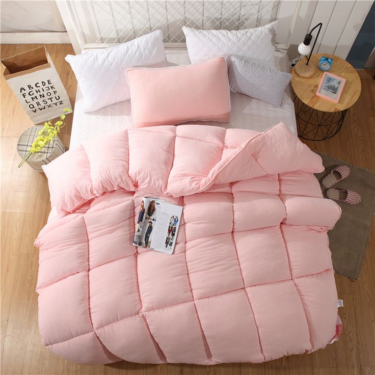 100% cotton quilt solid color duvets is core quilted thicker adult cotton winter quilt polyester blanket wool duvet quilt cover
