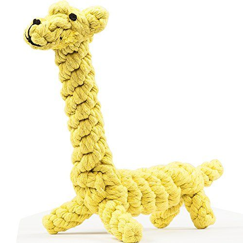 Dog Toys oneisall Pet Cotton Chew Rope Toy Dental Teaser Teeth Cleanning for Small Dog Puppy Biting Giraffe