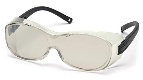 Pyramex Ots Safety Eyewear Indoor/Outdoor Mirror Lens With Black Temples