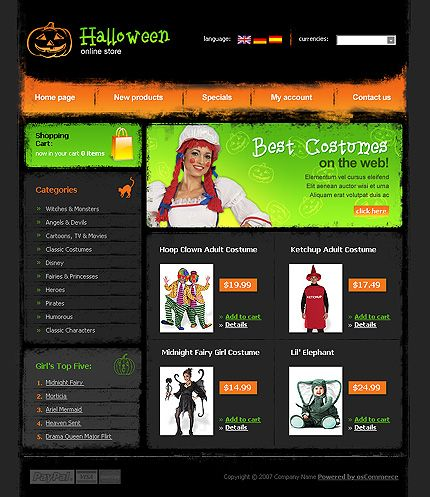 27 best Halloween Web Templates images on Pinterest | Coffee break ...
