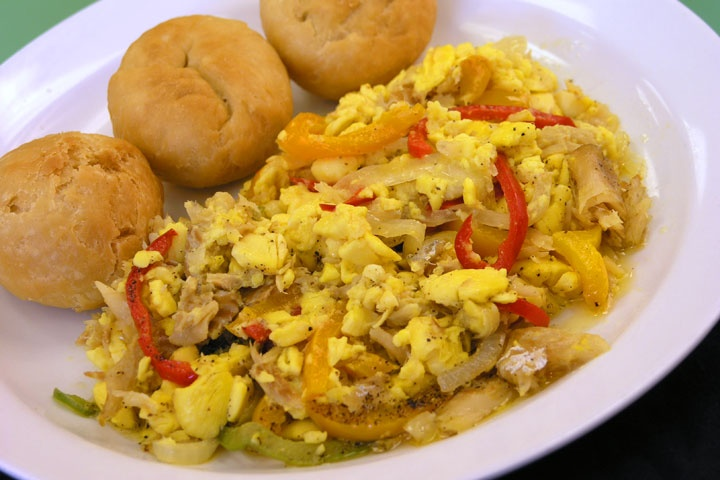 Ackee and saltfish jamaica pinterest restaurant i for Salt fish ackee