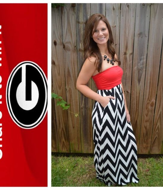 Georgia bulldogs maxi dress. Yes please...could also do a black and white skirt with a red tank or tube!