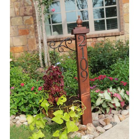 House Number DIY Projects - I definitely need this.  darn bushes keep covering our house numbers...
