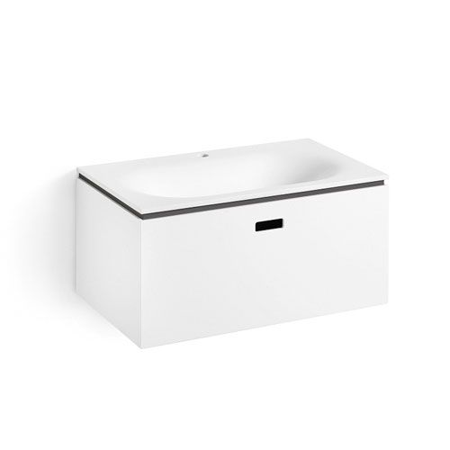 Linea White and Dark Grey Bathroom Vanity
