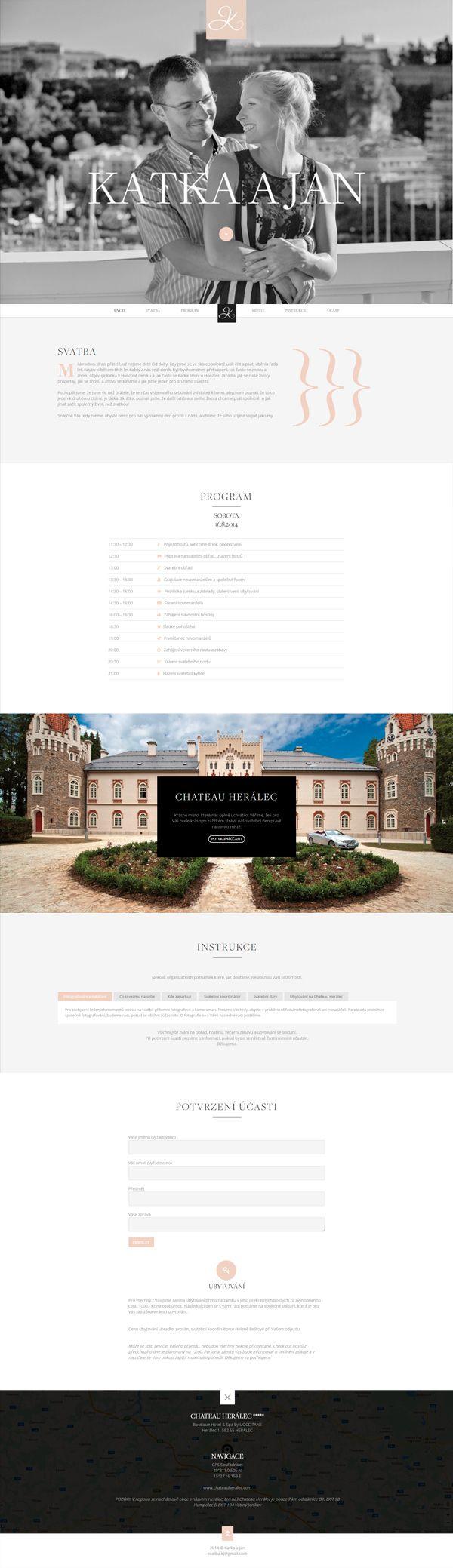 Jednoduchý a elegantní svatební web / Simple and elegant wedding site