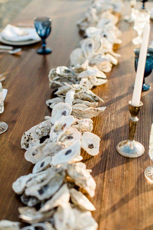 Oyster Shell wedding decor on Tybee Island by Savannah, GA vendor - JLeslie Designs