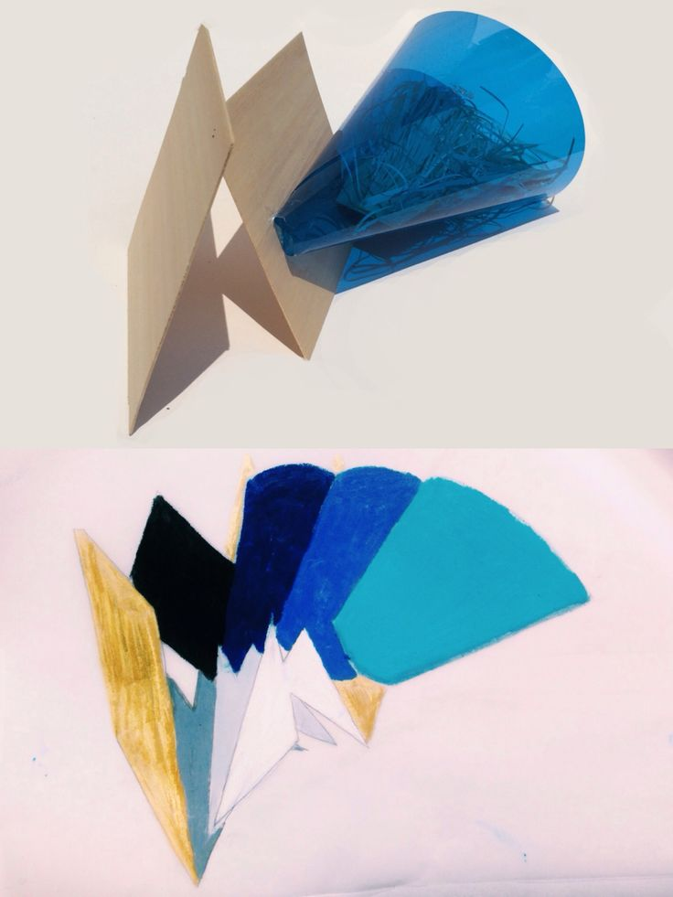 repetition, harmony, colour. materials: cut papers, coloured-transparent paper, balsa wood.