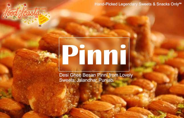 Have you tasted Desi Ghee Besan #Pinni from #Punjab? If not, Order today on FoodFeasta Made from pure desi ghee(clarified butter), #Besan Pinni is a delicacy that you must relish. Coming from famous confectioners of #Jalandhar- Lovely Sweets; this authentic Besan Pinni would satiate your sweet tooth for sure.