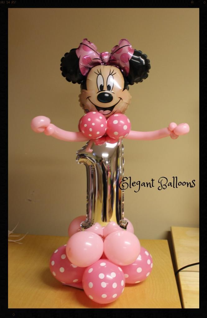 180 best images about balloons minnie mickey on for Balloon decoration minnie mouse