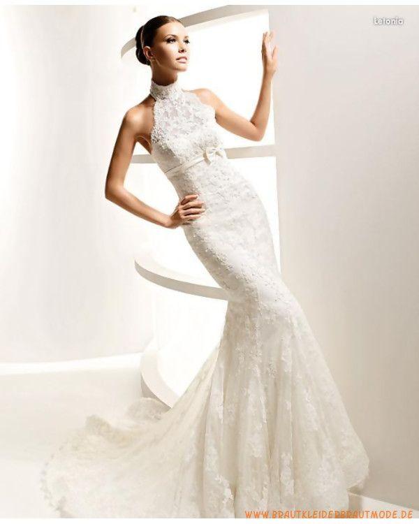 Die neueste Brautmode berlin von Spitze Hochausschnitt Schulterfreie Brautkleider wie Meerjungfrau