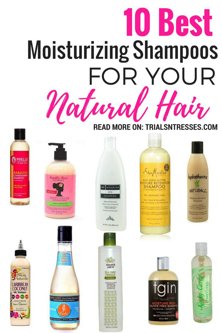10 best moisturizing shampoos for your natural hair