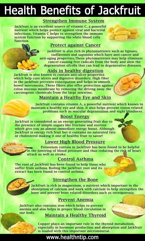 Jackfruit Nutritional Values and Health Benefits (Infographic)