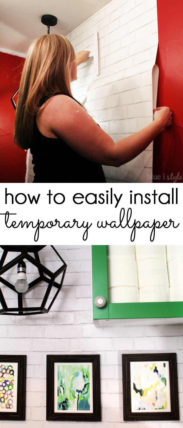 TEMPORARY REMOVABLE WALLPAPER! How to easily install self-adhesive, temporary removable wallpaper, like Tempaper and other brands. Detailed tutorial with step by step instructions.
