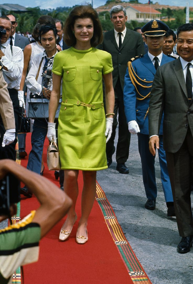 11/6/1967- Sihanoukville, Cambodia: Prince Norodom Sihanouk walking on red carpet with Jackie Kennedy prior to dedication of John F. Kennedy boulevard. via @AOL_Lifestyle Read more: https://www.aol.com/article/entertainment/2017/04/12/jackie-kennedy-onassis-alec-baldwin-date/22036995/?a_dgi=aolshare_pinterest#fullscreen