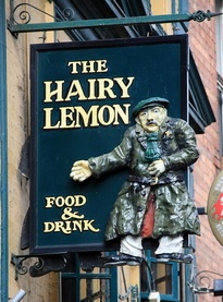 """THE HAIRY LEMON FOOD & DRINK in Ireland (where PJ Delahunty first muttered the immortal phrase """"tis a thing of beauty whilst looking at a pint of Guinness"""")."""
