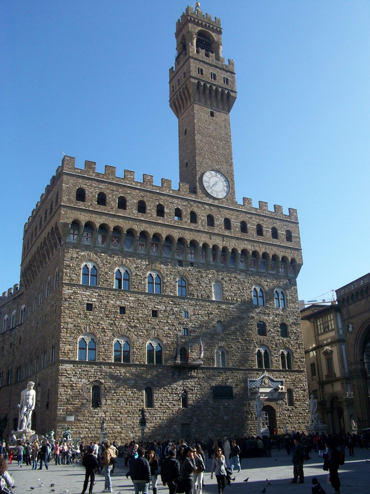 The Palazzo Vecchio in Florence - be careful you can get locked in the restroom my wife did