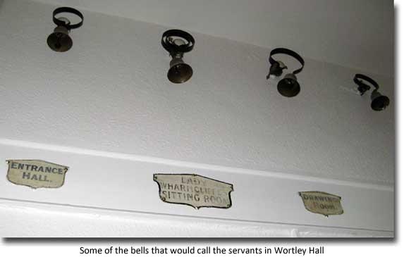 Servants bells in Wortley Hall
