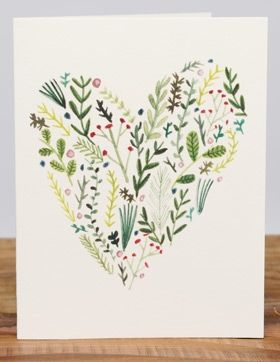 Floral Heart | Red Cap Cards | Illustrated Greeting Card by Lizzy Stewart