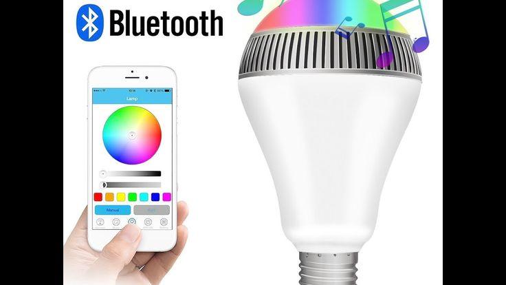 Lampadina LED E27 Bluetooth Altoparlante RGB luci multicolore IPhone, IP...
