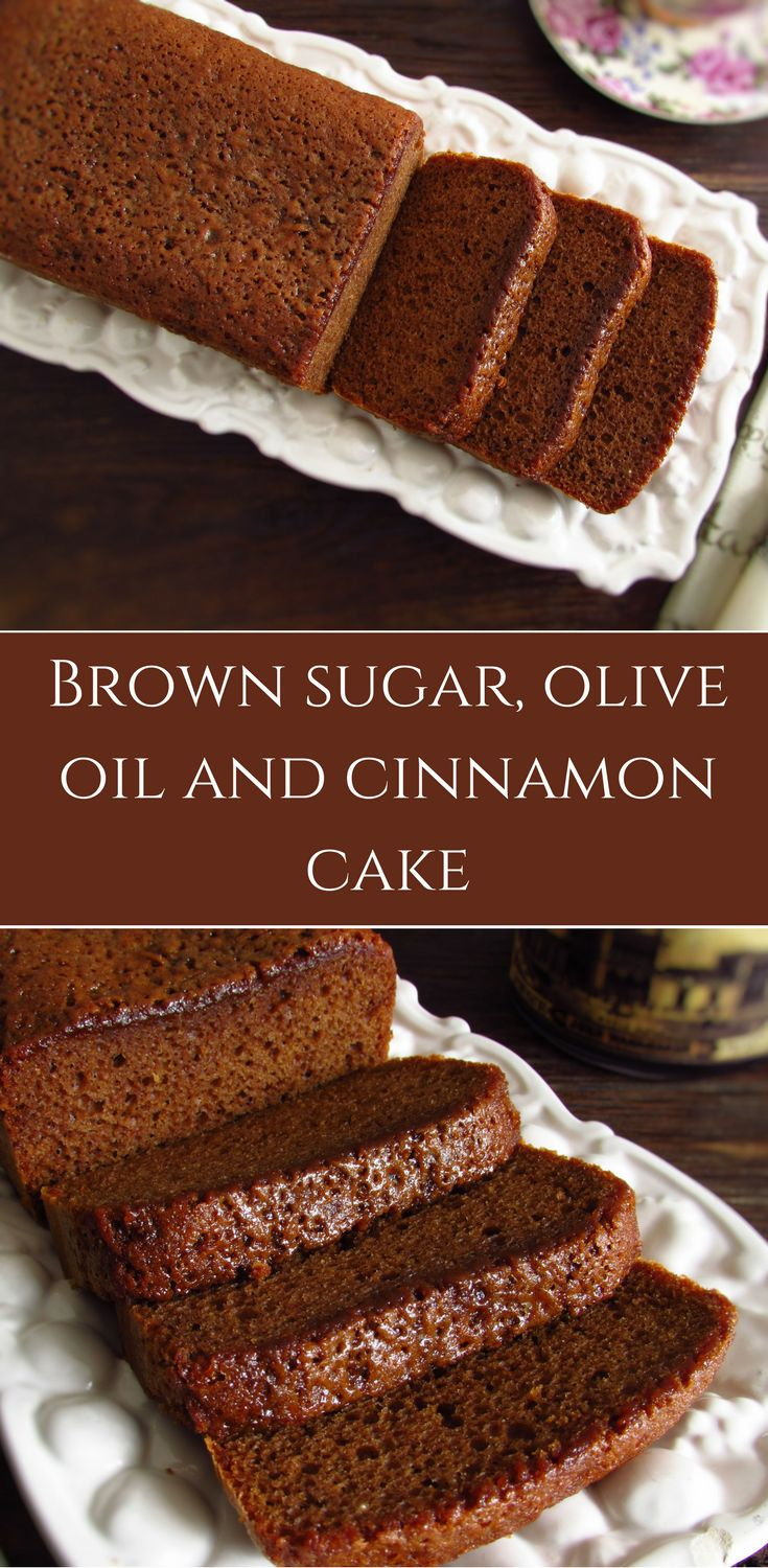 Brown sugar, olive oil and cinnamon cake | Food From Portugal. With winter and cold, hot drinks and a homemade cake are always a good solution for a family snack! Prepare this brown sugar, olive oil and cinnamon cake and serve with a hot cup of coffee! Bon appetit! #cake #recipe #cinnamon
