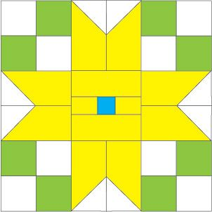 Star Flowers: FREE Quilt Block Pattern
