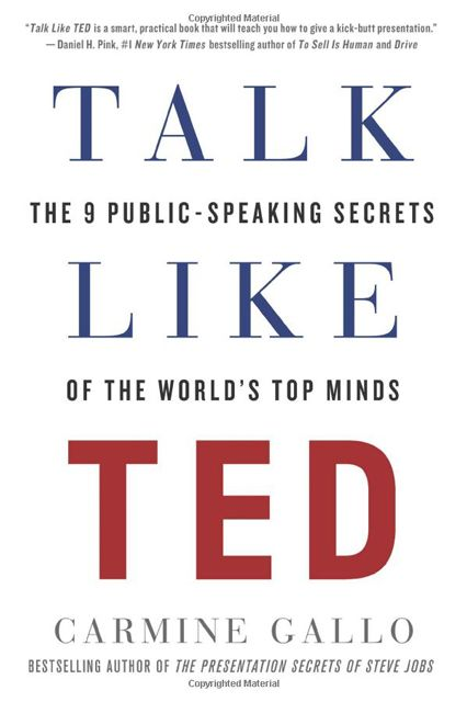 Conquer those public-speaking woes.Talk Like Ted: The 9 Public-Speaking Secrets of the World's Top Minds by Carmine Gallo, $24.99, available at Target x STORY.