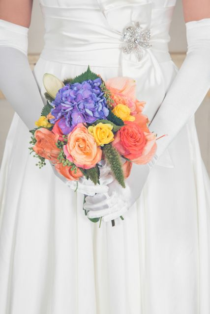 Stunning bridal bouquet http://www.knightonflowers.co.uk/