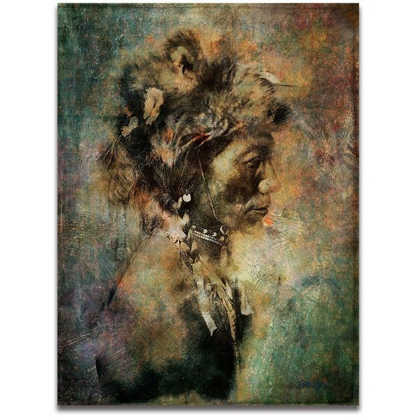 Fine Art Print of 'Yellow Kidney Native American Indian. American... (£17) ❤ liked on Polyvore featuring home, home decor, wall art, yellow home decor, photo wall art, textured wall art, yellow home accessories and cowboy home decor