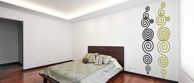 Spirála A (1057) / Samolepky na zeď, stěnu a nábytek