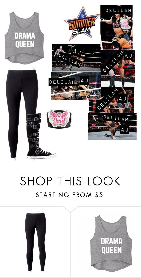 """🌺Delilah🌺 Lilah & AJ Lee fight at Summerslam 2013 for the Divas Championship (WWE)"" by rroyalserena ❤ liked on Polyvore featuring Jockey, Converse, WWE, ajlee, summerslam, delilahmichaels and lilahmichaels"