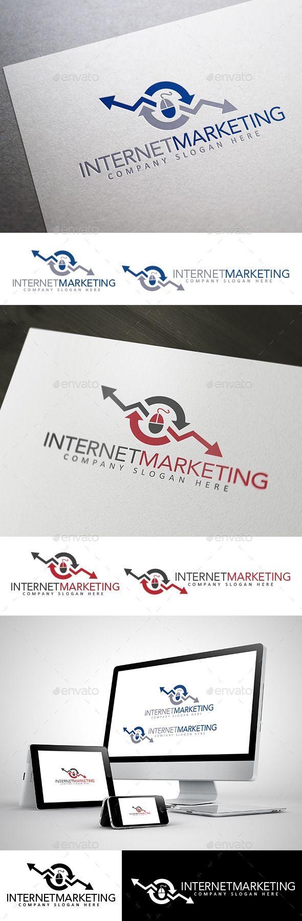 Internet Marketing Logo — Vector EPS #seo #marketing • Available here → https://graphicriver.net/item/internet-marketing-logo/10412906?ref=pxcr