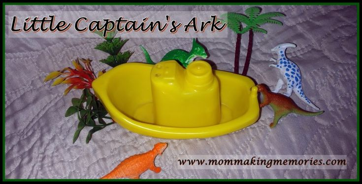 Every night when we go to bed I read Little Captain a story from a children's bible. As we finished one bible the night before and I was too tired to read I decided to tell him the story again of the creation. Before long he jumped to the ark.