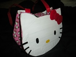 Hello Kitty duct tape bag
