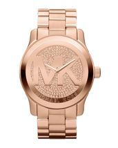 Michael Kors MK5661 MK Runway Glitz Accents Women's Rose Gold Tone Wrist Watch $180.00 & FREE Shipping