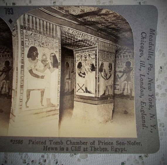 Egyptian Stereoview Card Keystone 2586 by DaysofYoreTreasures
