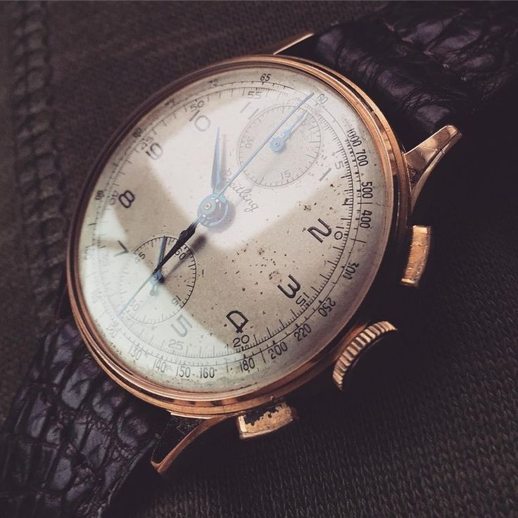 [Breitling] Rose gold Breitling ref 178 chronograph from 1946 - Venus 170 - vintage chrono : Watches ...repinned für Gewinner!  - jetzt gratis Erfolgsratgeber sichern www.ratsucher.de