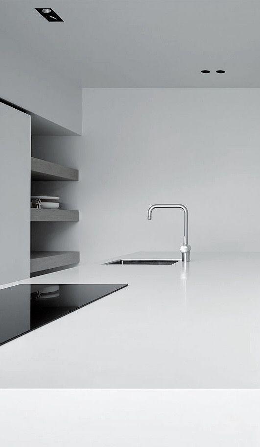 Modern kitchen interior design inspiration bycocoon.com | sturdy stainless steel kitchen taps | kitchen design | bathroom design | project design | renovations | Dutch Designer Brand COCOON