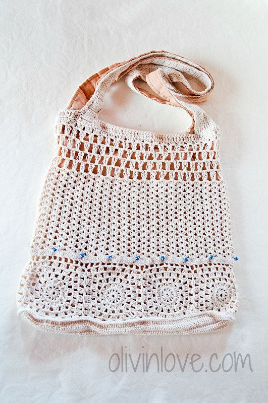 Crochet lace bag by OLIVINLOVE on Etsy