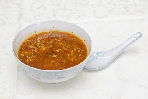 Ostrokyslá  činska polievka