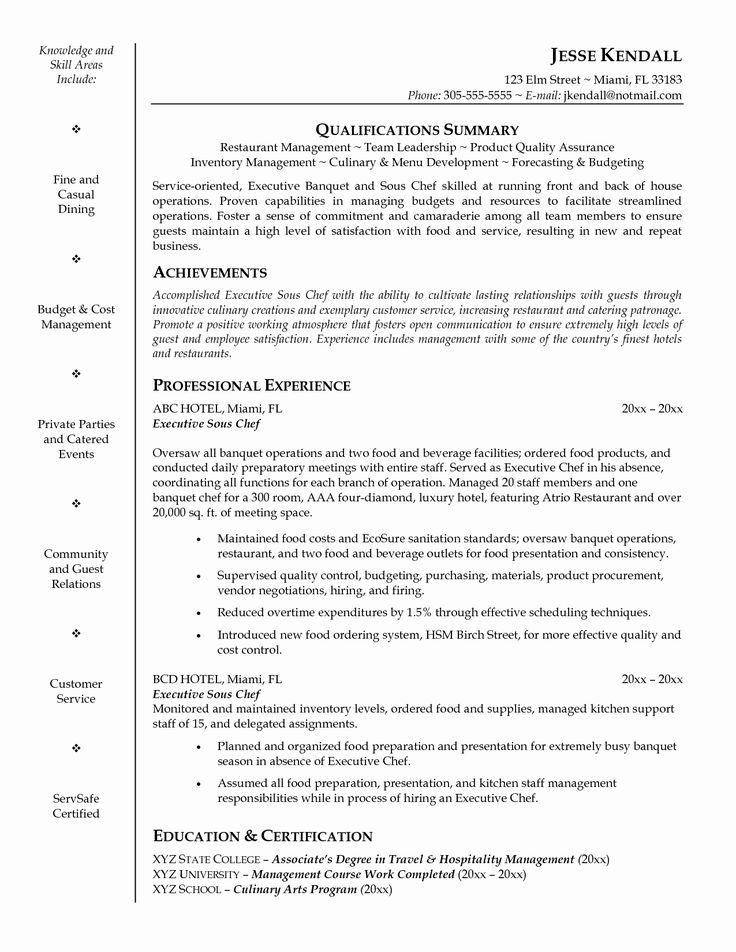 Kitchen Manager Job Description Resume Luxury Household