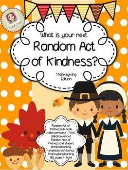 Random Act of Kindness - Thanksgiving Activity & Decor Bun