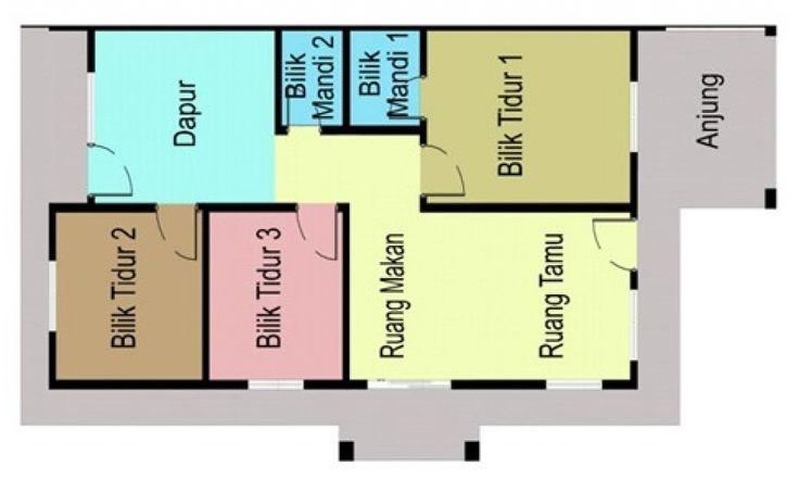 Contoh Pelan Rumah Kos Sederhana Spnb Projek Malaysia Vista Minintod Penampang Sabah Home Plans In 2018 Pinterest House How To Plan And