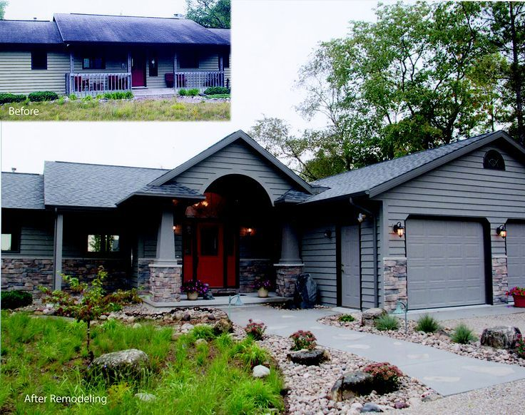 Remodeled home exterior house remodeling ranch house for Ranch home progetta planimetrie